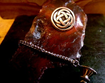 Celtic Knot  Tie Tack Sterling Silver Free Shipping