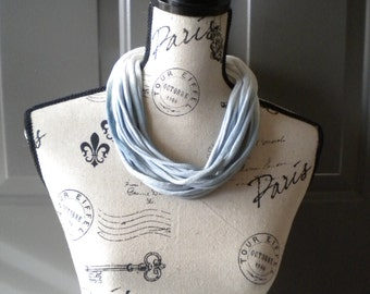Jersey Scarf Necklace in Fade to Blue Ombré