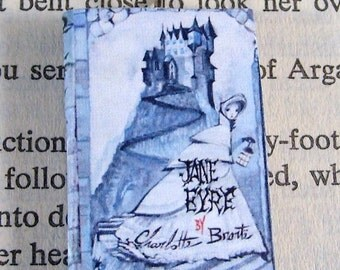 Miniature Classic Novels Book Necklace Charm Jane Eyre Version 2