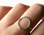 Sterling silver circle ring sterling silver ring open circle ring full circle eternity ring purity ring best friends geometric ring