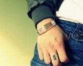 Sterling silver bangle bracelet set 7 bangles sterling silver bracelet hammered silver bangle stacking bangle stacking bracelet