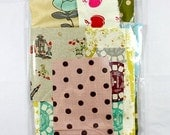 Japanese Fabric scrap pack, Echino, Kokka, Nani Iro, linen and cotton blends 4oz