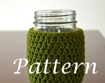Instand Download - Mason Jar Cozy Pattern - May sell finished product