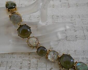 1960's Green Stone Bracelet