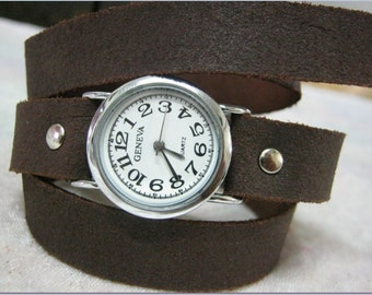 Women Watches, Watches For Women, Leather Watches For Women, Watches For Girls, Leather Watch Cuff, Double Strap Watch, Watch Leather band