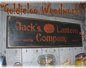 Jack's Lantern Company, Primitive, Folkart, wall sign