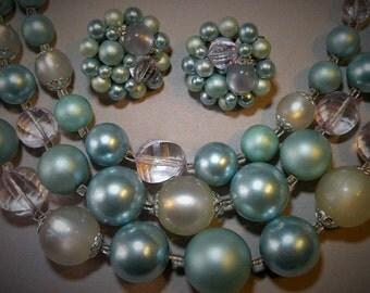 Vintage Aqua Bead Set