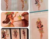 Pineapple Princess fine art print set