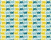 SALE 1 Yard Organic Cotton Fabric - Birch Frolic - Ellie Stagger Boy