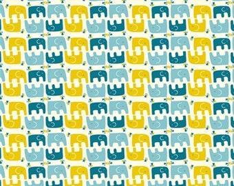 Organic Cotton Fabric - Birch Frolic - Ellie Stagger Boy
