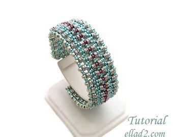 Tutorial O-La Bracelet-Beading pattern,Instant download,Jewelry tutorial