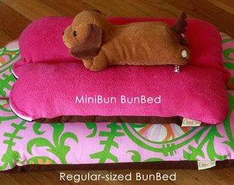 MiniBun - Magenta Berry Zippered Bunbed Dog bed for Dachshunds small dogs pets rabbits