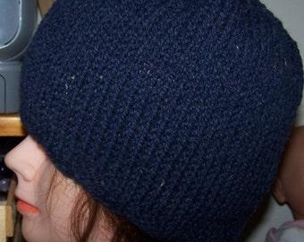 Wool Beanie Hand Knit Hat Oversize XL Ski New OOAK Warm Cloche New