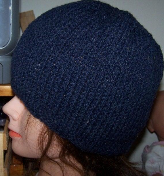 Wool Beanie Hand Knit Hat Oversize XL Ski New Warm Cloche New