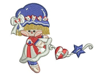 Made in the USA --Independence Day Fourth of July Embroidery Design