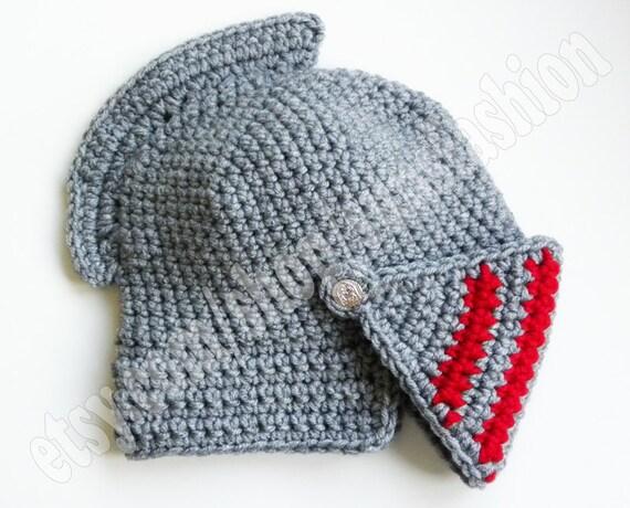 Knight Helmet Crocheted hat Slouch Crochet Mens Convertible Helmet Hat ...