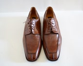Mercanti Fiorentini Brown Leather Oxfords