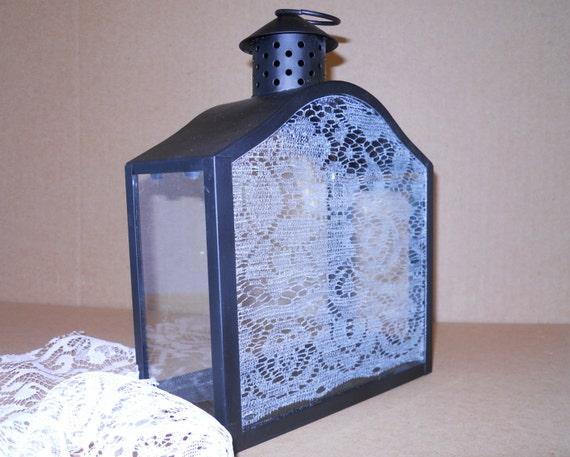 Lace Lantern/Wedding Gift Card Holder by artophile on Etsy
