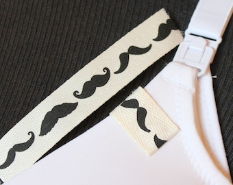 Mammary Minders Nursing Reminder in twill mustache (A6)