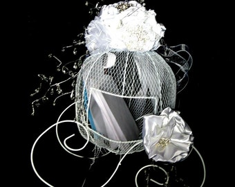 Cinderella Card and wish holder  Use as card  and or wish holder to match brooch bouquets ,