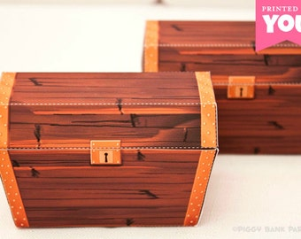 Treasure Chest Favor Box : DIY Printable Pirate Booty PDF - Instant Download