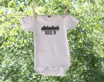 Baltimore // Made In (can be made with just the skyline and no text) Infant Bodysuit