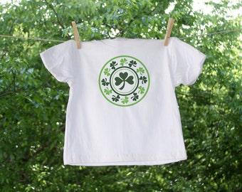 Green Shamrock Round Emblem-St. Patrick's Day Shirt