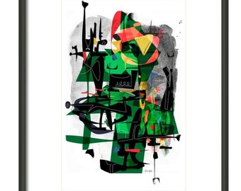 Apollinaire Mid Century Modern Cubist Art signed and numbered
