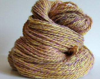 "Handspun Yarn -- ""Guinevere"" -- 166 yards, worsted weight"