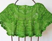 knitted shawl pattern, calyx shawl, shawlette pattern