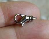 10pcs Clasp Lobster Claw Silver Plated Brass 14x8mm With Swivel
