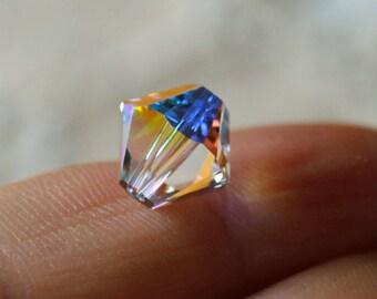 10pcs Swarovski Bicone Crystal Beads Crystal Clear AB Faceted Austrian Crystal 10mm Xilion Model 5328