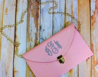 Monogram Clutch Purse Wedding Clutches Bridal Accessories Crossbody Bag Purse