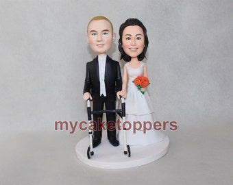 wheelchair wedding cake toppers, wheelchair, wheel chair, disabled people, disable