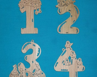 12 Days Of Christmas Scroll Saw Ornaments