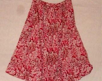 size 6 rockabilly full pink skirt