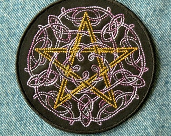 Celtic Pentacle Iron on Patch