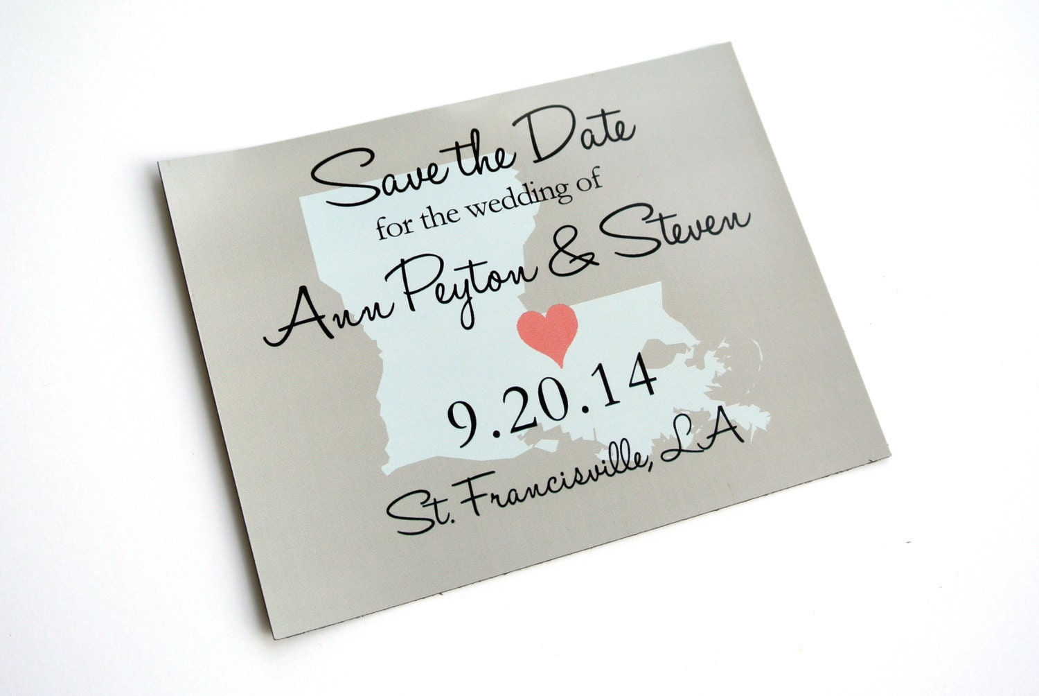 Your State And Wedding Destination Save The Date Magnet