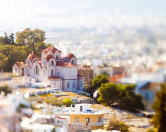 Agia Marina Athinon in Athens, Greece Tilt-Shift 8x10 Inch Photographic Print