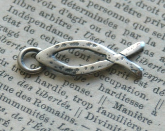 Sterling Silver Christian Fish Charm - Add On For Design Your Own By Inspired Jewelry Designs