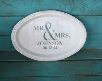 Personalized Mr and Mrs Wedding Sign Wedding Gift Bridal Shower Gift Save the Date Sign Customizeable Choose Your Colors