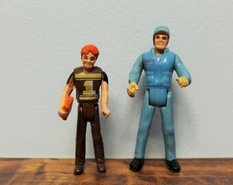 Vintage Buddy L Bus Driver and Student Figure