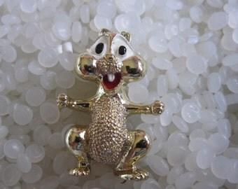 vintage pin, brooch, sweet chipmunk signed Gerrys
