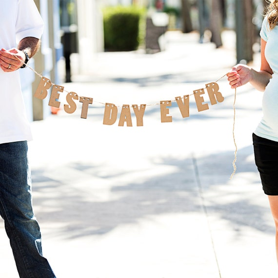 Best Time Of Day For Wedding: Best Day Ever Banner For Wedding Decoration Or By