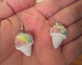 Rainbow Snow Cone Earrings