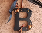 Halloween Wreath Boo sign wreath in Orange is the new black!