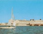 Bermuda Vintage Postcard - Yacht Cruises Hamilton Harbour Princess Hotel - Boating Memorabilia - Sailing Boating