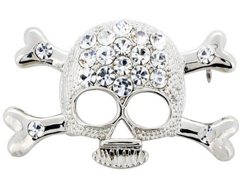 Crystal Skull Brooch Pin 1012432