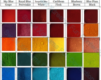 Choose a Set of 12, 24, or 36 Colors in Our Powder Food Coloring!  - For Cakes, Candy, Icings & More