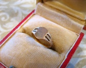 Antique Edwardian 14K Gold Baby Signet Ring
